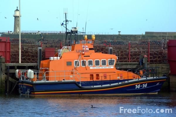 Picture of RNLI Lifeboat, Whitby - Free Pictures - FreeFoto.com