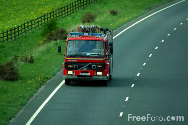 Picture of Northumberland Fire - Free Pictures - FreeFoto.com