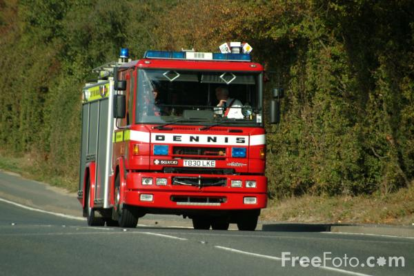 Picture of Kent Fire and Rescue Service pump rescue ladder - Free Pictures - FreeFoto.com