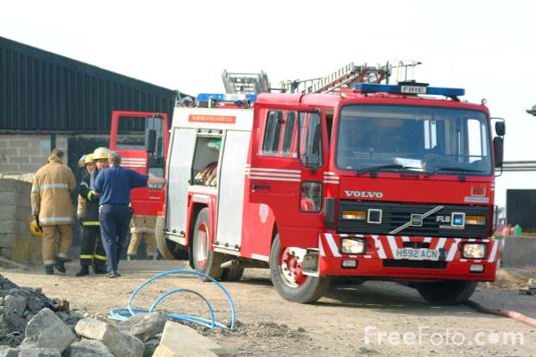 Picture of Volvo Carmichael Fire Engine - Free Pictures - FreeFoto.com