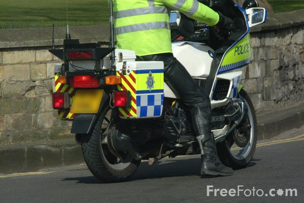 Picture of Police Motor Bike - Free Pictures - FreeFoto.com