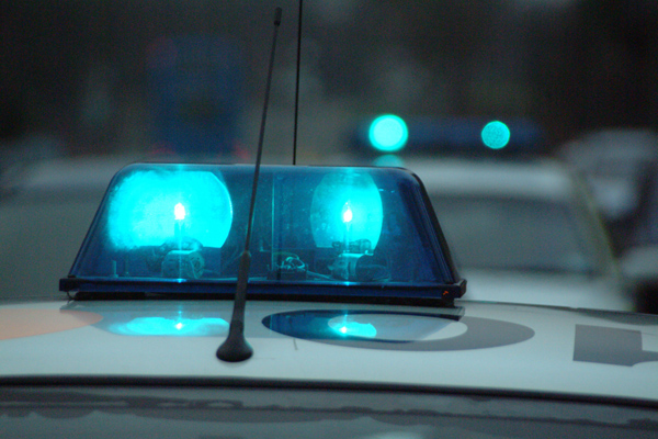 Picture of Police emergency flashing blue lights - Free Pictures - FreeFoto.com