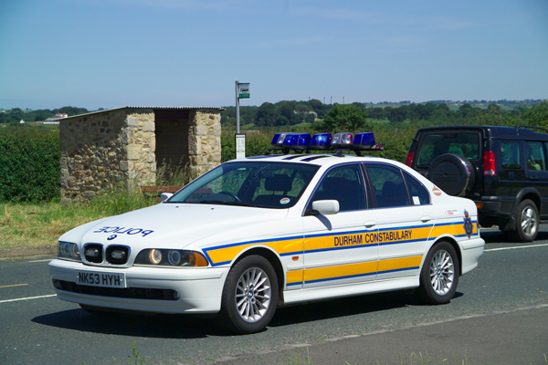 Picture of Durham Constabulary Traffic Car - Free Pictures - FreeFoto.com