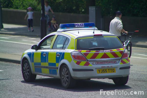 Picture of Police Car - Free Pictures - FreeFoto.com
