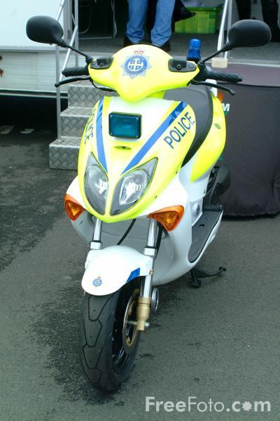 Picture of Police Scooter - Free Pictures - FreeFoto.com