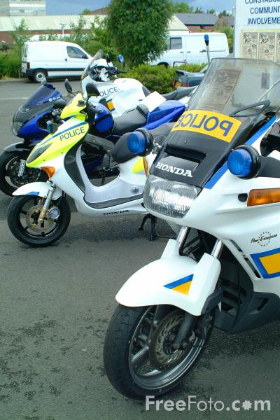Picture of Police Motor Bikes - Free Pictures - FreeFoto.com
