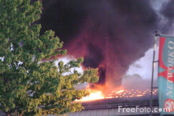 Picture of Garage Fire, Gateshead, Tyne & Wear - Free Pictures - FreeFoto.com