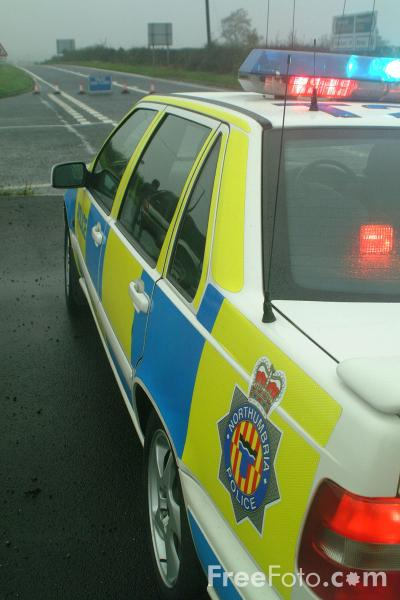 Picture of Police Road Accident, A696, Northumberland - Free Pictures - FreeFoto.com