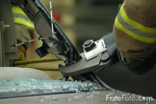 Picture of Cutter - Electro-Hydraulic Auto Extrication Tool - Free Pictures - FreeFoto.com