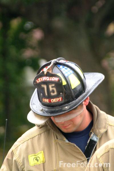 Picture of Fireman, Lexington Fire Department - Free Pictures - FreeFoto.com