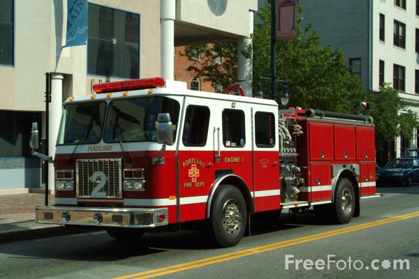 Picture of Portland Fire Department Maine Engine 2 - Free Pictures - FreeFoto.com