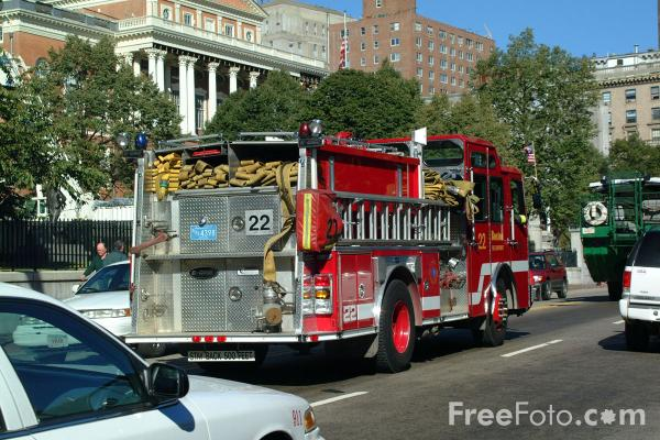 Picture of Boston Fire Dept Engine 22, Boston, Massachusetts - Free Pictures - FreeFoto.com