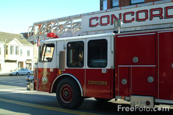 Picture of Concord fire department Ladder 50 E-ONE - Free Pictures - FreeFoto.com