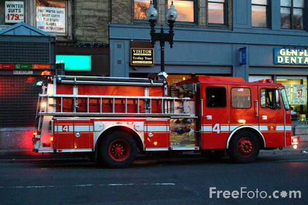 Picture of Boston Fire Dept Engine 4, Boston, Massachusetts - Free Pictures - FreeFoto.com