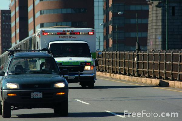 Picture of Ambulance, Boston, MA - Free Pictures - FreeFoto.com