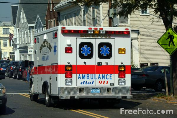 Picture of Ambulance, Rockport, MA - Free Pictures - FreeFoto.com