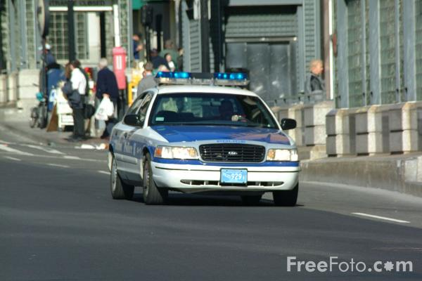 Picture of Boston Police Car - Free Pictures - FreeFoto.com