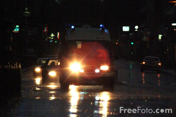Picture of Ambulance in the rain, France - Free Pictures - FreeFoto.com