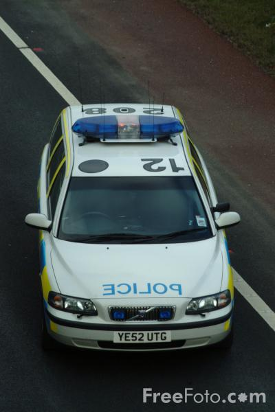 Picture of Police Car, Road Traffic Accident - Free Pictures - FreeFoto.com