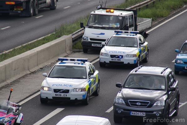 Picture of Police traffic car - Free Pictures - FreeFoto.com