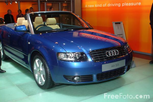 Picture of Audi A4 3.0 Cabriolet, Birmingham International Motor Show 2002 - Free Pictures - FreeFoto.com