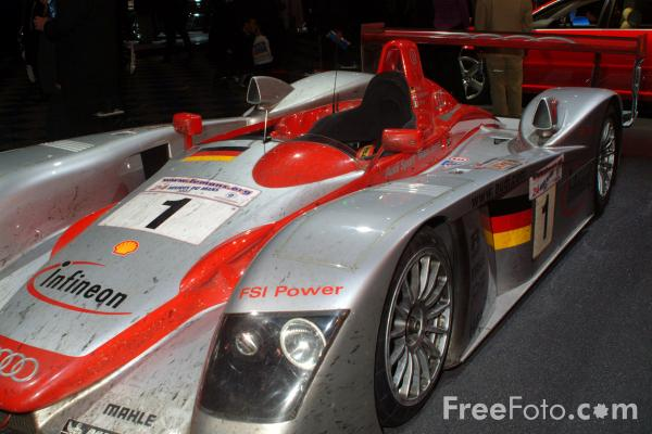 Picture of Infineon Audi R8 Racing Car used in the Le Mans 24 hour-race - Free Pictures - FreeFoto.com