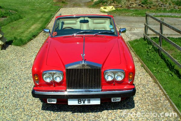 Picture of Red Rolls Royce Corniche Convertible - Free Pictures - FreeFoto.com