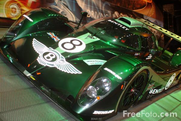 Picture of Bentley Racing Car, Birmingham International Motor Show 2002 - Free Pictures - FreeFoto.com