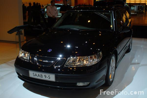 Picture of Saab 9-5, Birmingham International Motor Show 2002 - Free Pictures - FreeFoto.com