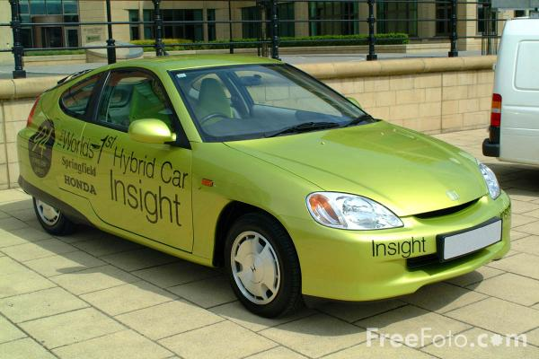 Picture of Honda Insight gas-electric hybrid vehicle - Free Pictures - FreeFoto.com