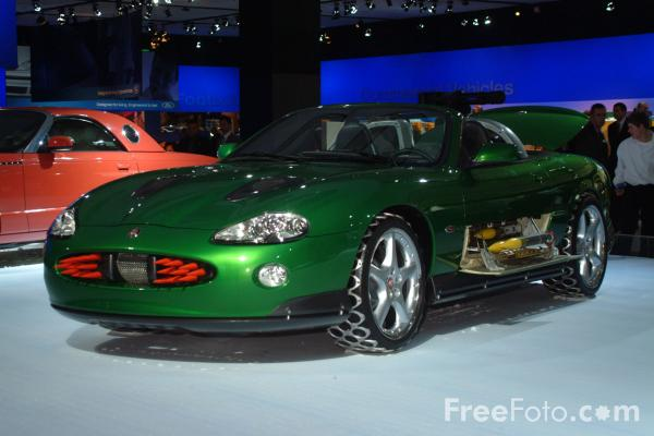 Picture of Jaguar XKR Roadstar as driven by Bond Nemesis Zao, Birmingham International Motor Show 2002 - Free Pictures - FreeFoto.com