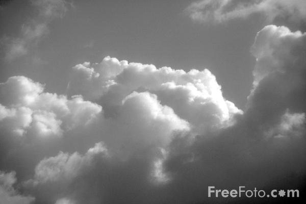 Black and White photograph of clouds. VIEW: More images from the category