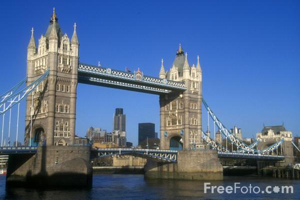 Picture of Tower Bridge, London, England - Free Pictures - FreeFoto.com