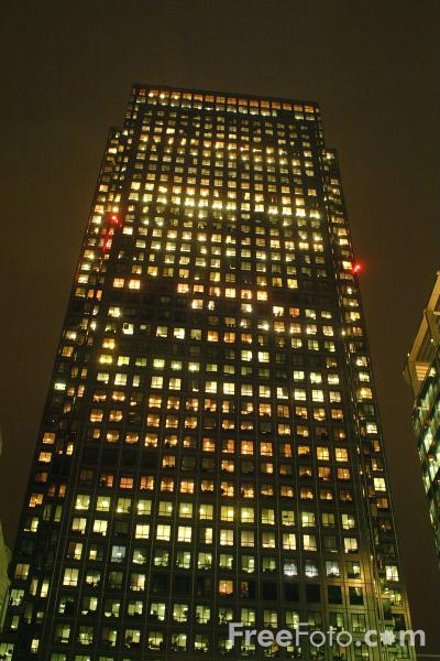 Picture of One Canada Square, Canary Wharf, London, United Kingdom - Free Pictures - FreeFoto.com