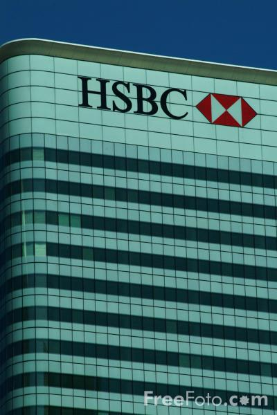 Picture of HSBC, Canary Wharf, London, United Kingdom - Free Pictures - FreeFoto.com