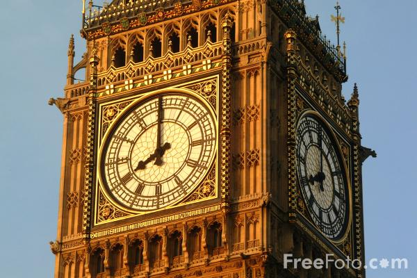 Picture of Eight O'clock, Big Ben, The Houses of Parliament, London, England - Free Pictures - FreeFoto.com