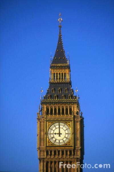 Picture of Big Ben, The Houses of Parliament, London, England - Free Pictures - FreeFoto.com