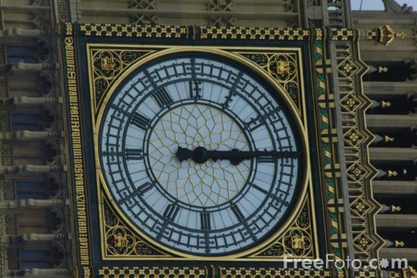 Picture of Twelve O'clock, Big Ben, The Houses of Parliament, London - Free Pictures - FreeFoto.com