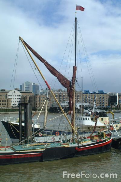 Picture of thames sailing barge the river thames london england