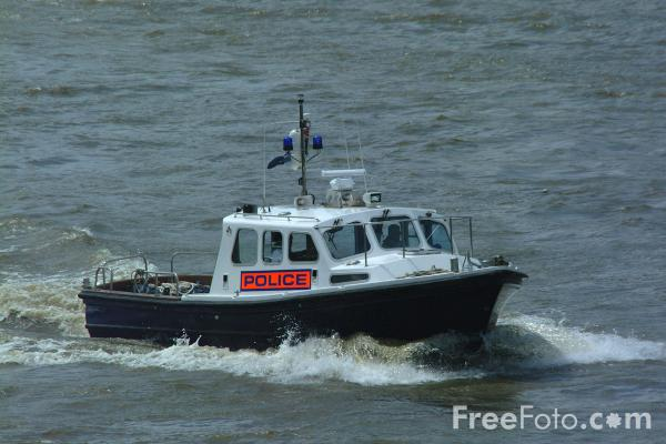 Picture of Police Boat, The River Thames, London, England - Free Pictures - FreeFoto.com
