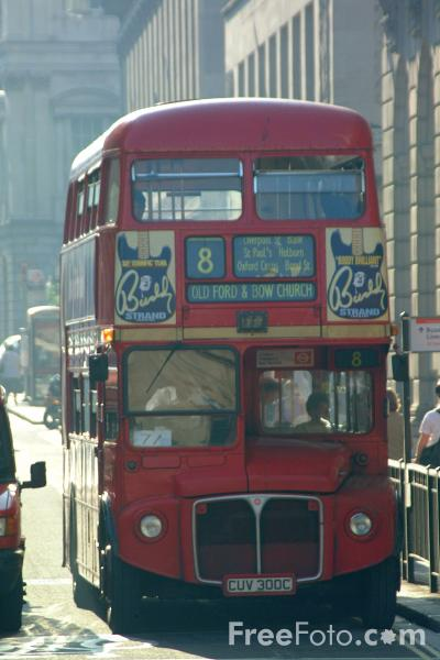 Picture of Red Routemaster double decker bus, London, England - Free Pictures - FreeFoto.com