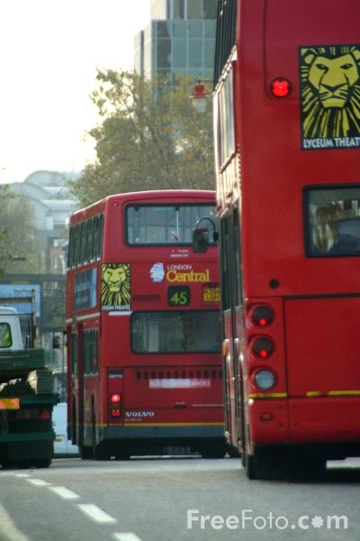 Picture of London double decker bus, London, England - Free Pictures - FreeFoto.com