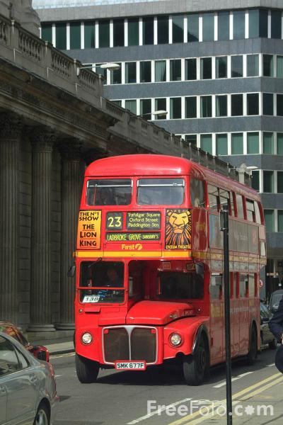 Picture of Route 23, Red Routemaster double decker bus, London, England - Free Pictures - FreeFoto.com