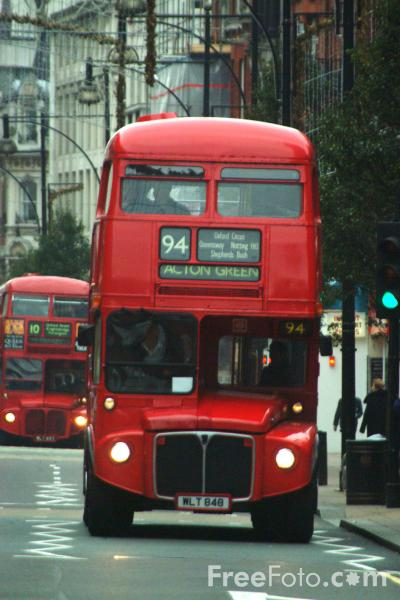 Picture of Route 94, Red Routemaster double decker bus, London, England - Free Pictures - FreeFoto.com