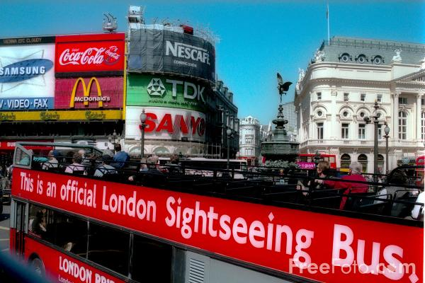 Picture of Piccadilly Circus, London - Free Pictures - FreeFoto.com