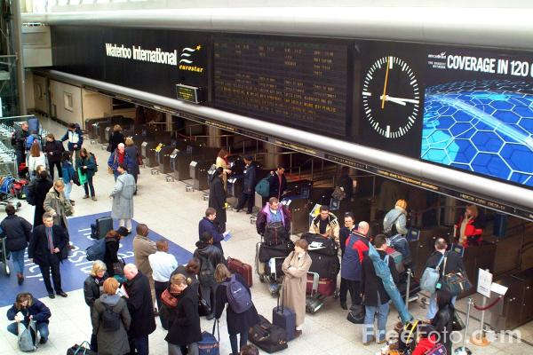 Picture of Waterloo International Station, London - Free Pictures - FreeFoto.com