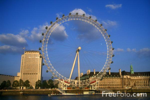 london eye. Picture of London Eye - Free