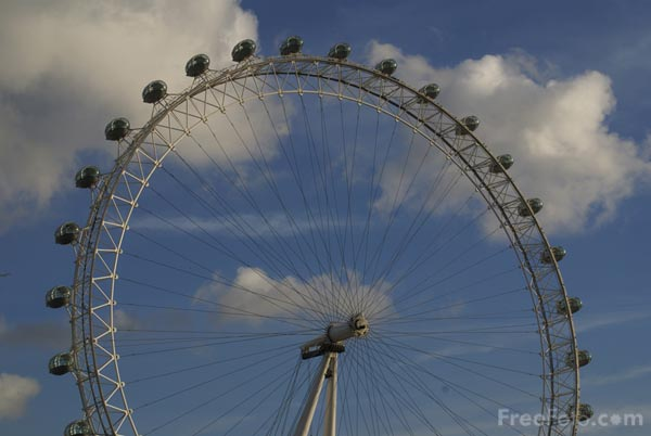 Picture of London Eye - Free Pictures - FreeFoto.com