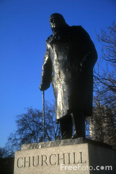 Picture of Winston Churchill Statue, London, England - Free Pictures - FreeFoto.com