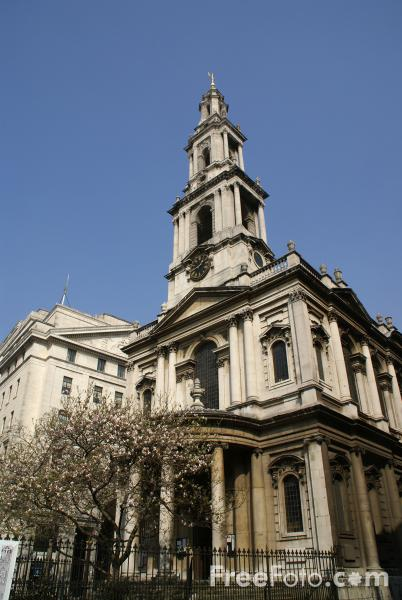 Picture of St Mary Le Strand Church, London - Free Pictures - FreeFoto.com